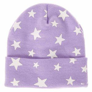 Claire's Purple Glow-in-the-Dark Star Beanie